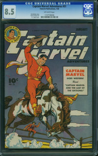Captain Marvel Adventures #51 (Fawcett Publications, 1946) CGC VF+ 8.5 Off-white pages