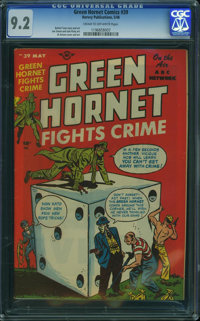 Green Hornet Comics #39 (Harvey, 1948) CGC NM- 9.2 Cream to off-white pages