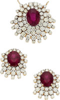 Estate Jewelry:Suites, Pink Tourmaline, Diamond, Gold Jewelry Suite . ... (Total: 2 Items)