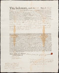 Colonial Notes:Rhode Island, Rhode Island Indenture £47 Aug. 25, 1844 Very Fine.. ...