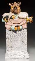 Ceramics & Porcelain, American:Contemporary   (1950 to present)  , David James Gilhooly (American, 1943-2013). Samurai Hog, 1981. Glazed and painted ceramic. 20-1/2 inches (52.1 cm) high...