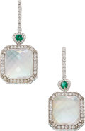 Estate Jewelry:Earrings, Diamond, Multi-Stone, White Gold Earrings The ...