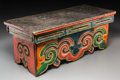 Asian:Other, A Tibetan Polychrome Wood Folding Meditation Table, 18th-19thcentury. 10-1/2 h x 24 w x 10-1/2 d inches (26.7 x 61.0 x 26.7...