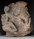 Asian:Chinese, A Nepalese Copper Repousse Panel of a Bodhisattva, 16th-17thcentury. 25 h x 21-1/2 w x 5-1/4 d inches (63.5 x 54.6 x 13.3 c...