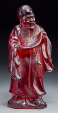 Asian:Chinese, A Chinese Cast Resin Figure of Shoulao. 11 inches high (27.9 cm)....