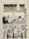 Original Comic Art:Splash Pages, Bob Powell Green Hornet Comics #37 Splash Page 1Original Art (Harvey Comics, 1947)....