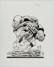 Jack Davis New York Giants NFL Football Illustration Original Art (Hot Shots, c. 1990s)