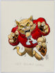 Jack Davis Arizona Wildcats College Football Illustration Original Art (Hot Shots, c. 1990s)