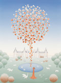 Fine Art - Painting, American:Contemporary   (1950 to present)  , Wilma Langhamer (German/American, 20th Century). Spring Fountainat Palais Chambord, 1987. Oil on canv...