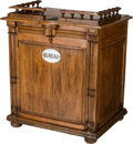 Furniture : French, A French Oak Business Desk, late 19th-early 20th century. 32-1/4 hx 30-1/2 w x 23-1/4 d inches (81.9 x 77.5 x 59.1 cm). P...