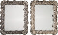 Decorative Arts, Continental:Other , A Pair of Baroque-Style Silvered-Framed Easelback Mirrors, 21stcentury. 25-1/2 inches high x 22-1/4 inches wide (64.8 x 56....(Total: 2 Items)