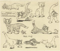 animation art:Model Sheet, Puss Gets the Boot Studio Model Sheet Print (MGM, 1939). ...
