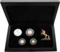 China, China: People's Republic gold & silver 4-Piece Unicorn Proof Set 1994,... (Total: 4 coins)