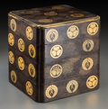 Asian:Japanese, A Japanese Four-Tier Lacquered Box, late Edo-Meiji Period. 10-3/4 hx 10 w x 9-1/2 d inches (27.3 x 25.4 x 24.1 cm). ...