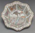 Asian:Chinese, A Chinese Export Enameled Porcelain Dish with Eight AuspiciousSymbols Motif. 3 inches high x 9-1/2 inches wide (7.6 x 24.1 ...