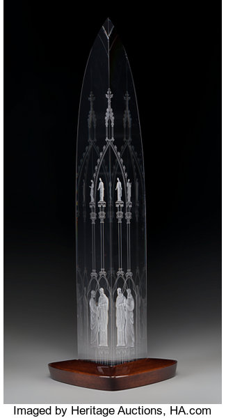 48c2f95dd483 A Limited Edition Steuben Glass Cathedral Obelisk designed by