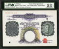 World Currency: , Malaya Board of Commissioners of Currency $10,000 ND (1942) Pick17cts Color Trial Specimen.. ...