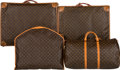 "Luxury Accessories:Travel/Trunks, Louis Vuitton Set of Four; Monogram Canvas Keepall 60, Garment Bag& Two Suitcases. Condition: 4. 23"" Width x 13""Heig... (Total: 4 Items)"
