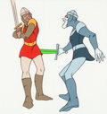 Animation Art:Production Cel, Dragon's Lair Dirk and Ghost Dirk Color Model/Concept Cel(Don Bluth, 1983). ...
