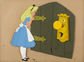 Animation Art:Production Cel, Alice in Wonderland Alice and Door Knob Production Cel Setup (Walt Disney, 1951). ...