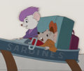Animation Art:Production Cel, The Rescuers Bianca and Bernard Production Cel (Walt Disney,1977). ...