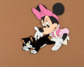 Animation Art:Production Cel, Bath Day Minnie Mouse and Figaro Production Cel (WaltDisney, 1946). ...