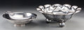 Silver Holloware, Continental:Holloware, A Mexican Silver Floriform Bowl with Carl Christiansen DanishSilver-Plated Bowl, mid-20th century. Marks: (various). 4-3/8 ...(Total: 2 Items)