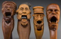 Decorative Arts, Continental:Other , Four Bavarian and Swiss Carved Wood Figural Nutcrackers, late19th-early 20th century. 8-1/2 inches long (21.6 cm) (longest)...(Total: 4 Items)