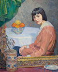 Fine Art - Painting, American:Modern  (1900 1949)  , George Laurence Nelson (American, 1887-1978). Bowl of Fruit,1915. Oil on canvas. 40 x 32 inches (101.6 x 81.3 cm). Sign...