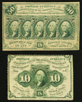 Fractional Currency:First Issue, Two Denominations First Issue Fractional.. ... (Total: 2 notes)