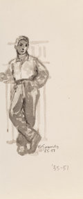 Works on Paper, Norman Sasowsky (American, 20th Century). Group of Four Drawings, c. 1955. Ink and ink wash on paper. 6-1/2 x 5-1/2 inch... (Total: 4 Items)
