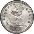 Seated Quarters, 1881 25C MS68 PCGS. CAC. Briggs 1-A....
