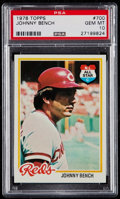 Baseball Cards:Singles (1970-Now), 1978 Topps Johnny Bench #700 PSA Gem Mint 10....