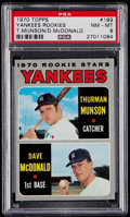 Baseball Cards:Singles (1970-Now), 1970 Topps Thurman Munson - Yankees Rookies #189 PSA NM-MT 8....