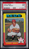 Baseball Cards:Singles (1970-Now), 1975 Topps Johnny Bench #260 PSA Mint 9....