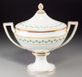 Ceramics & Porcelain, An Austrian Partial Gilt Porcelain Covered Soup Tureen, 19th century. Marks: (beehive mark in underglaze blue), (impressed m...