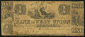 Obsoletes By State:Ohio, West Union, OH- Bank of West Union $1 Jan. 1, 1839. ...