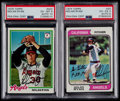 Autographs:Sports Cards, Signed 1974 and 1978 Topps Nolan Ryan Baseball Cards PSA/DNA Certified....