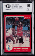 """Basketball Cards:Singles (1980-Now), 1985-86 Star Co. """"All-Rookie Team"""" Michael Jordan #2 BCCG Mint 10...."""