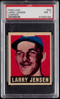 Baseball Cards:Singles (1940-1949), 1948 Leaf Larry Jensen (Jansen) #56 PSA NM 7....