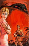 Original Comic Art:Covers, Woman Hunt Paperback Novel Cover Painting Original Art (Ace,1959)....
