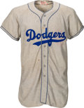 Baseball Collectibles:Uniforms, 1955 George Shuba Game Worn Brooklyn Dodgers Jersey....
