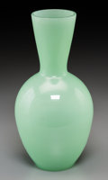 Asian:Chinese, A Chinese Celadon Peking Glass Vase. 10-1/4 inches high (26.0 cm)....
