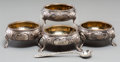 Silver & Vertu:Hollowware, Four Augustus George Piesse Victorian Silver Salt Cellars, London, England, circa 1864. Marks: (lion passant), (leopard), (d... (Total: 5 Items)