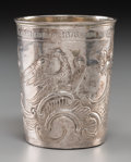 Silver Holloware, Continental:Holloware, A Russian Silver Cann, Moscow, Russia, late 18th century. Marks:(Moscow mark), (obscured date). 3-1/4 inches high (8.3 cm)...