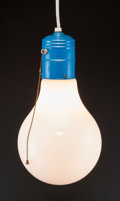 Lighting:Lamps, A Large Enameled Metal and Glass Bulb Lamp After Ingo Maurer, circa 1960. 16 inches high (40.6 cm). ...