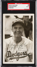 Autographs:Post Cards, Signed C. 1953 Glenn Mickens Real Photo Post Card SGC-Authentic. ...