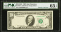 Error Notes:Foldovers, Printed Foldover Error Fr. 2027-L $10 1985 Federal Reserve Note.PMG Gem Uncirculated 65 EPQ.. ...