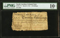 Colonial Notes:North Carolina, North Carolina March 9, 1754 20s PMG Very Good 10 Net.. ...