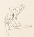 Animation Art:Production Drawing, Mickey Mouse Animation Drawing (Walt Disney, c. 1940s)....